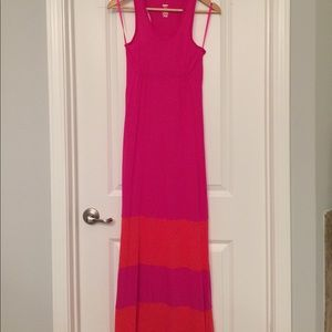 EUC, Mossimo colorblock maxi dress